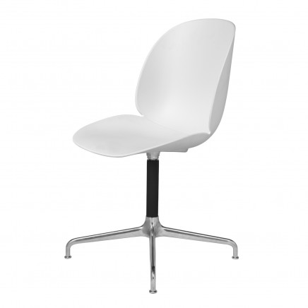 Beetle_DiningChair_CastedSwivel_Unupholstered_Alu_White
