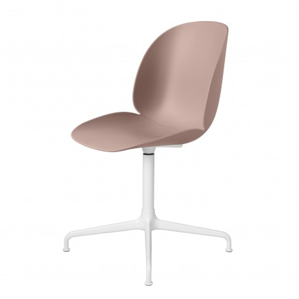 Beetle_DiningChair_CastedSwivel_Unupholstered_WhiteGlossy_SweetPink