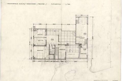 the-aalto-house-upper-floor-plan-drawing-alvar-aalto-museum-988x659